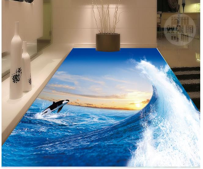 3D living room bathroom three-dimensional floor decoration painting