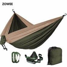 5 cores 2 pessoas portátil parachute rede acampamento sobrevivência jardim caça lazer hamac viagem dupla pessoa hamak