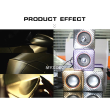 3D Carbon Fiber Vinyl Wrapping Foil Electroplate Stickers for Car Styling