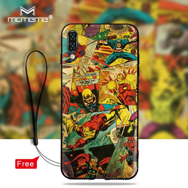 For vivo v11 Case, Silicon Soft TPU Case Back Cover for vivo v11 pro v11pro Cartoon Iron Man Superman Batman Shell Cover bags