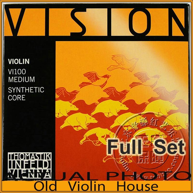 Original Thomastik Vision (VI100)4/4 Violin Strings Set - Medium, Full Set,made In Austria ,Hot Sell