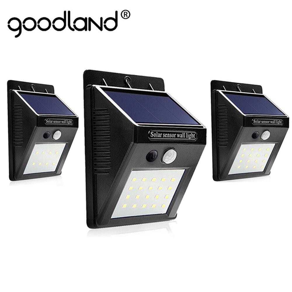Goodland LED Solar luz al aire libre de la lámpara Solar con PIR Sensor de movimiento Solar Powered impermeable de pared para jardín patio camino Decoración