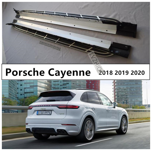 Auto Running Boards Side Step Bar Pedals For Porsche Cayenne 2018 2019 2020  High Quality Nerf Bars Car Accessories