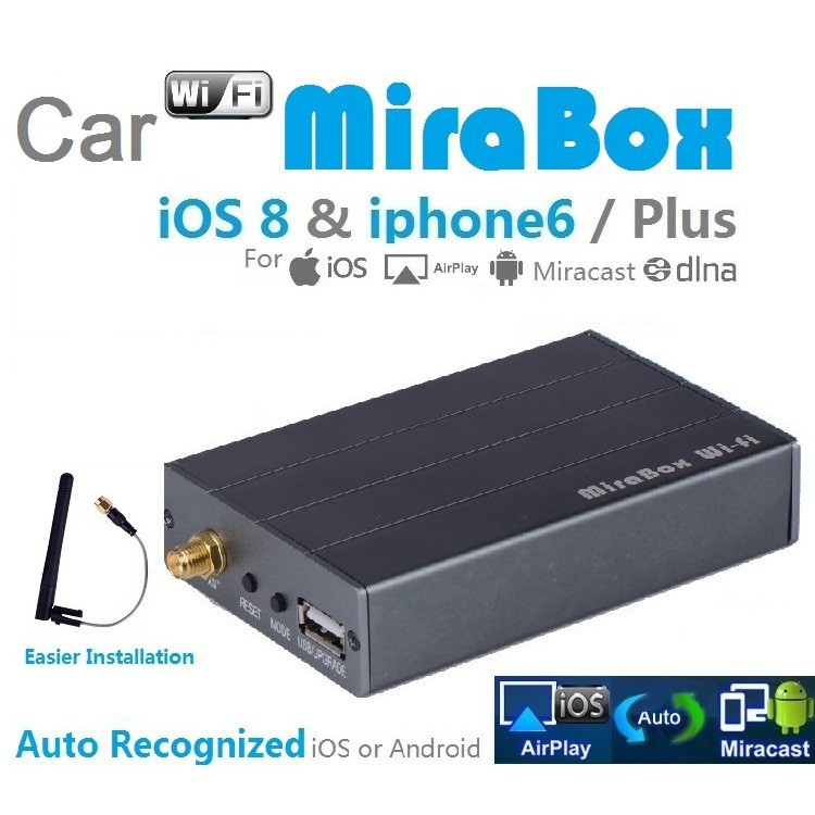 Wi Fi Android Smartphone iPhone Mirror Link Car Adapter