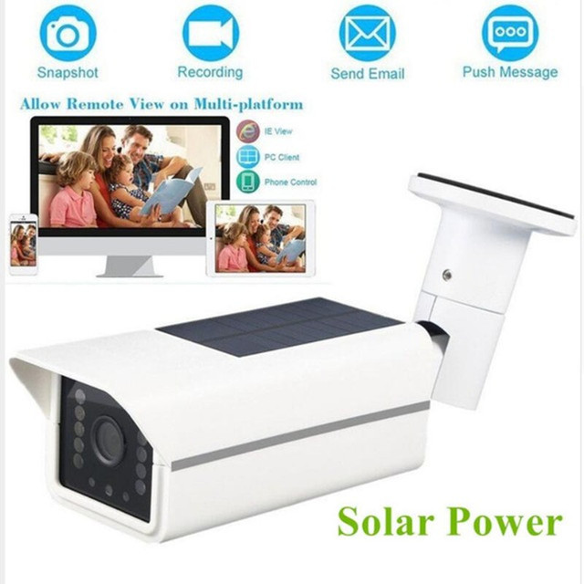 Professional Human Induction Solar Power Outdoor Bullet Security Camera Waterproof Surveillance Camera For Courtyards Fishponds