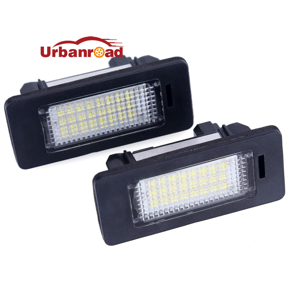 2PCS 12V White 6000K Led license plate light Number Lience Lamp For bmw e60 E82 E90 E92 E93 M3 E39 E60 E70 X5 E39 E60 E61 M5 2pcs set led license plate light error free for bmw e39 e60 e61 e70 e82 e90 e92 24smd xenon white free shipping