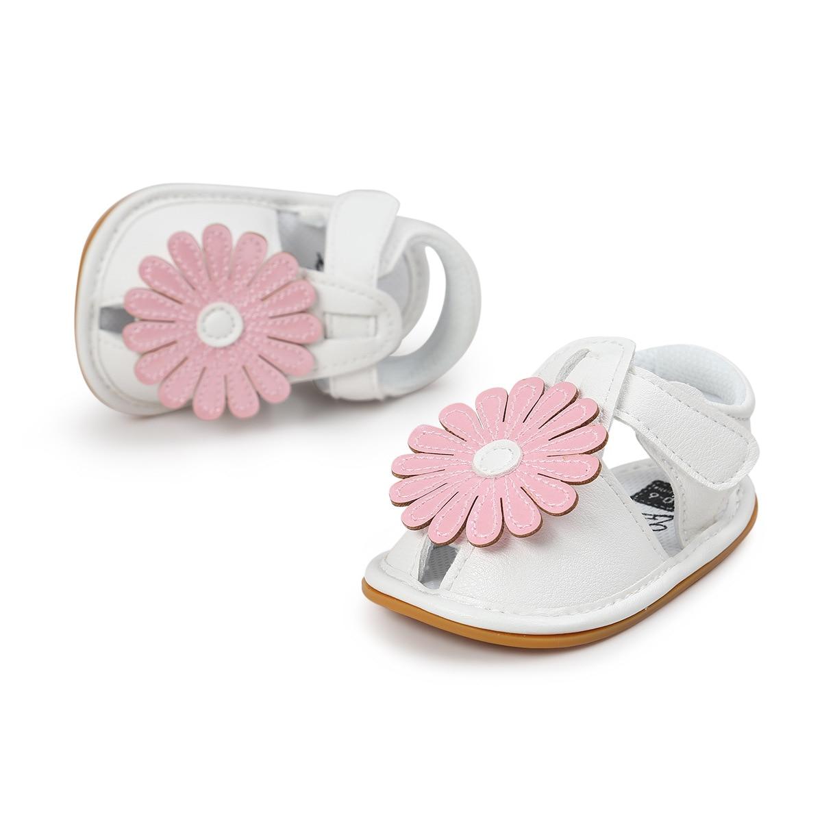 2017 New Style Sun Flower Baby Girl Shoe Soft Soled Toddler Girl