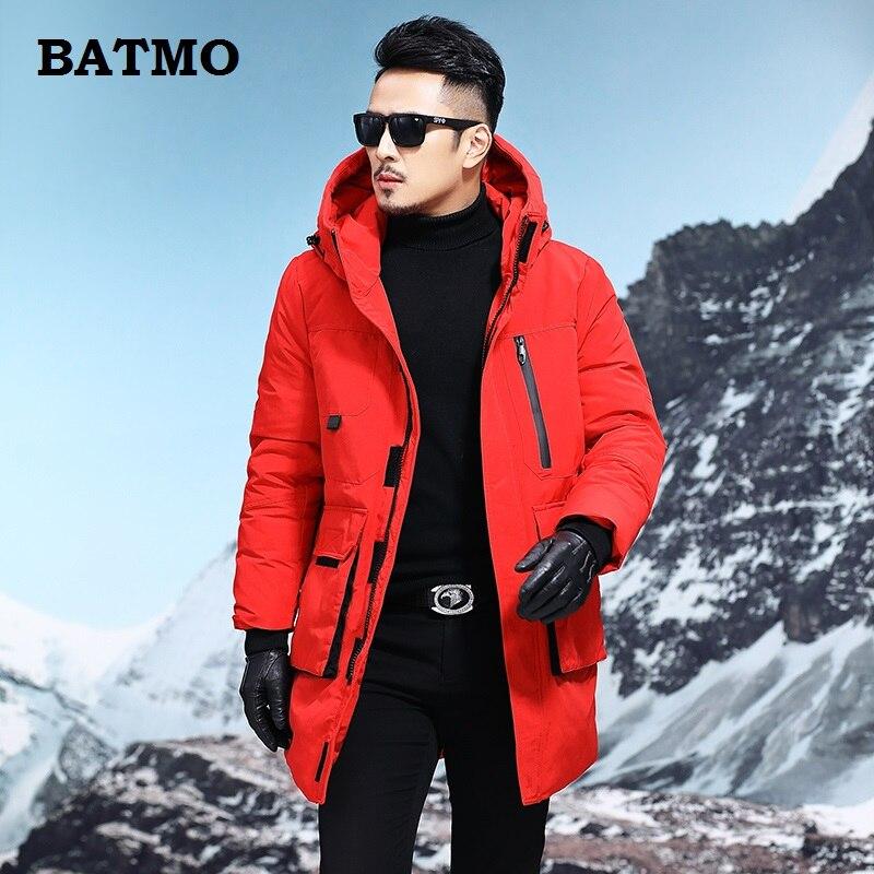 BATMO 2018 nouveauté haute qualité 90% duvet de canard blanc vestes à capuche hommes, parkas d'hiver pour hommes, vêtements de ski, t11809