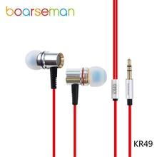 Boarseman KR49 Wired Auriculares Deporte de Auriculares In-Ear 3.5mm KR49 mx5 HIFI Auricular Para Meizu NOTA Martillo Letv T1 1 pro