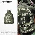 Amsterdam Moletom Com Capuz Exército Verde Juventude Capuz 2016 HEYBIG hip hop Homens Moda de Rua Treino roupas Kanye Tamanho Asiático!