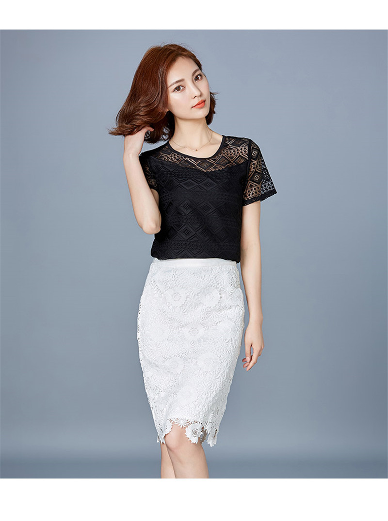 HTB1katePFXXXXX5XpXXq6xXFXXX2 - New women tops lace chiffon blouse korean office female clothing