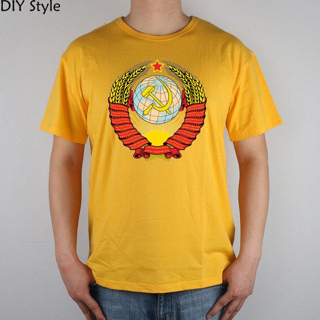 URSS RUSIA mágico Ruso guerra fría ° Camiseta Top de Lycra Hombres camiseta de algodón Nuevo Diseño de Alta Calidad de Inyección de Tinta Digital impresión