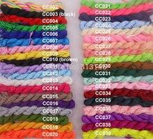 Venta al por mayor, 40 rollos de colores surtidos, 1mm, 1,5mm, macramé, abalorios, trenzado de estilo cola de rata, cuerdas de Nylon, hilo Kumihimo para fabricación de joyas