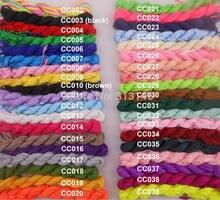Venta al por mayor 40 rollo surtidos Color 1mm 1,5mm Macrame cordón trenzado de estilo cola de rata cuerdas de Nylon Kumihimo cadena hilo para la fabricación de la joyería