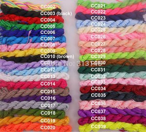 Image 1 - Wholesale 40 Roll Assorted Color 1mm 1.5mm Macrame Beading Rattail Braided Nylon Cords Kumihimo String Thread for Jewelry Making