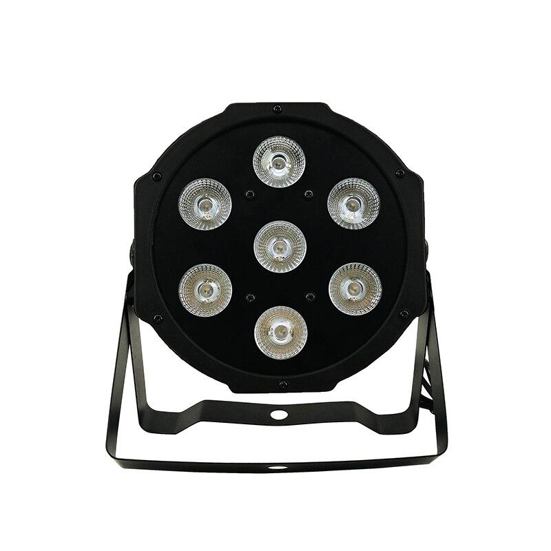 4 pcs/lot vente CHAUDE 7x9 w LED Par 64 RGB 3IN1 TRI LED PAR LUMIÈRE DMX512 SHEHDS LED éclairage de scène DJ Voir Club Party Lumières