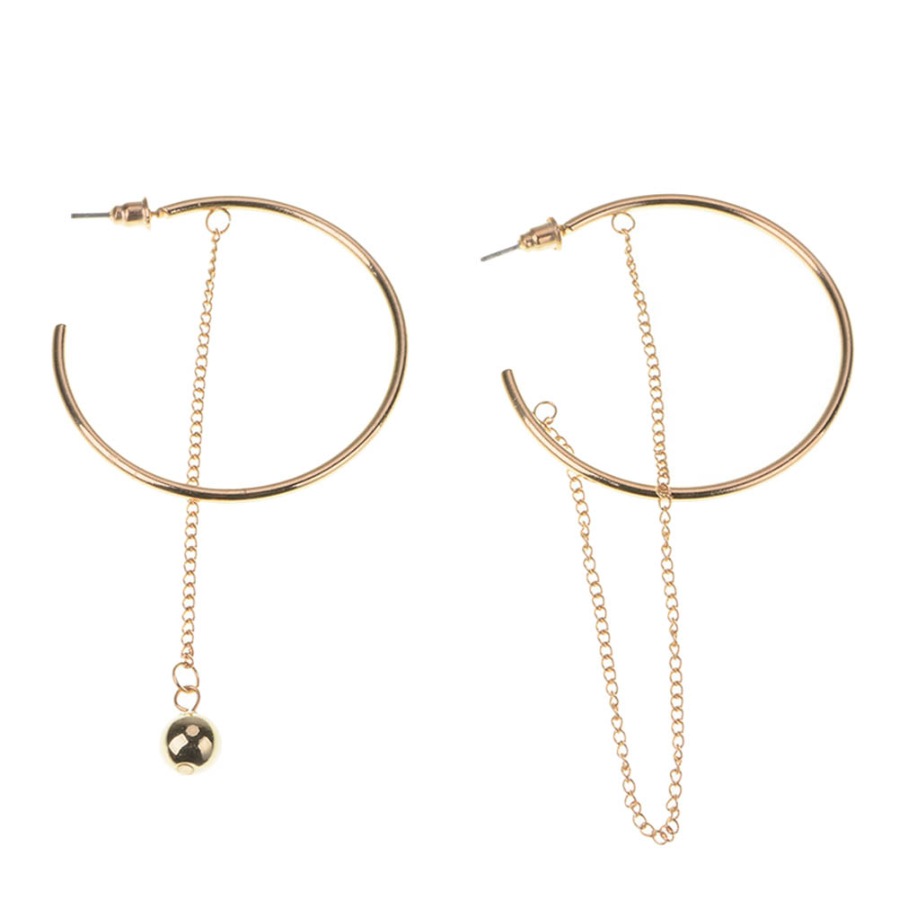 1 pair Personalized Creative Alloy Large Circle Geometric Earrings Nightclub Exaggerated Circle Ear Rings For Woman WHOLESALE