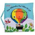 Livro de pano macio crianças kid educacional toys tecido balão peekaboo animais inglês ensinar estéreo livro tranquila para bebês recém-nascidos