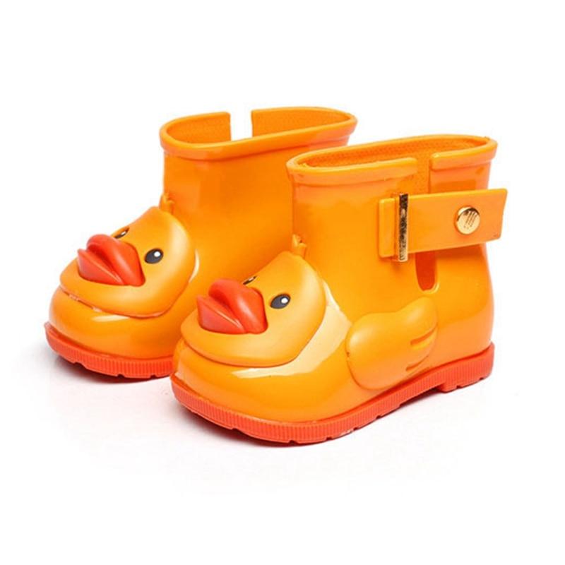DUCK MEMON PVC Sugar Rain II Slip On Rain Boot (Toddler) CUTE DUCK CHILDREN SHOES 3 COLOR