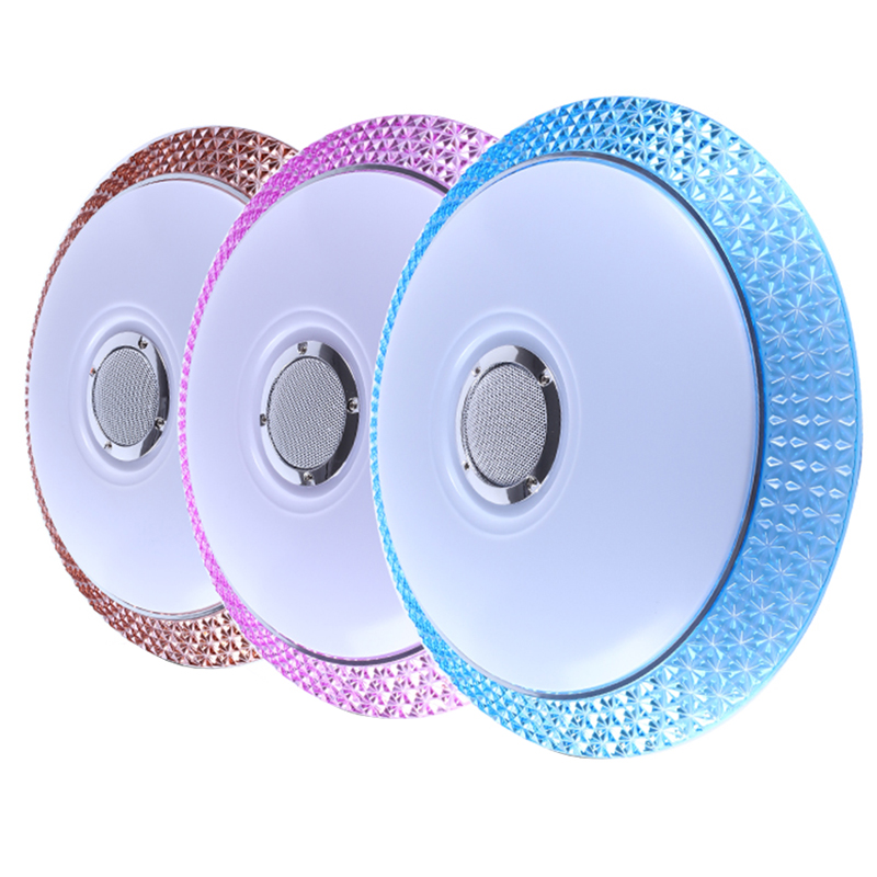 Mobile phone APP LED Ceiling Light Modern RGB Living Room Luminaria 24W Bluetooth Speaker Lustre Music Party Lamp Free shipping цена