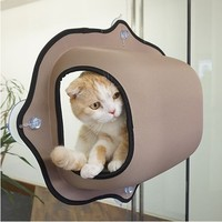 Hot Sale cat window bed cat lounger Warm Bed Pet Hammock For Pet Rest & Cat House Soft And Comfortable Cat Ferret Cage 1
