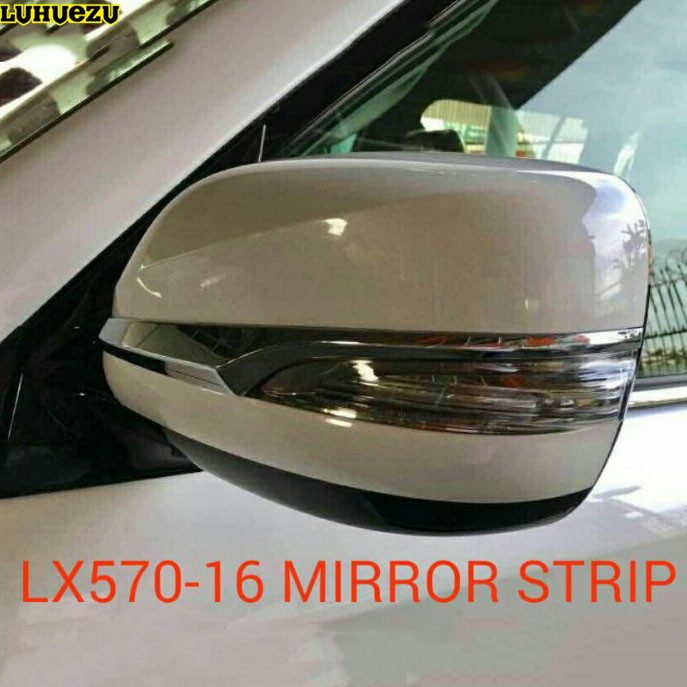 New Popular Chrome Side Rear View Mirror Cover Trim Strip For Lexus LX570 GX460 Accessories Parts new arrival for lexus rx200t rx450h 2016 2pcs stainless steel chrome rear window sill decorative trims