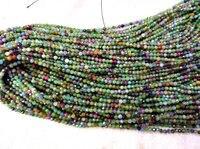 AA + Grado 2-4mm pietra preziosa Rossa Tourmarine Rondelle Sfaccettato amazonite lapis blu opale Perle peruviana branelli Allentati pieno strand 16