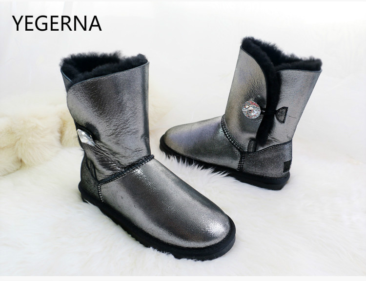 Hot Sale Australia Women Genuine Sheepskin Leather Snow Boots 100 Natural Fur Snow Boots Warm Wool
