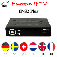 2pcs Best HD IPTV Box  IPS2 Plus DVB S2 TV Receiver 1 Year Europe IPTV 1800+Channels Set Top Box PK Freesat V8 super Receiver