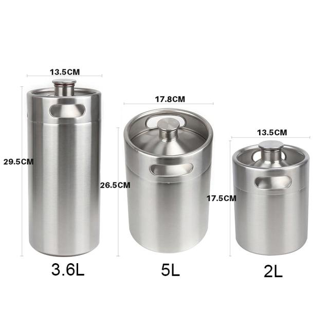 Stainless Steel Beer Mini Keg Set 6