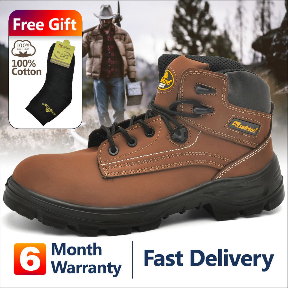 safetoe Work Boots Extra Wide Steel Toecap Anti-static high quality breathable full grain leathersafetoe Work Boots Extra Wide Steel Toecap Anti-static high quality breathable full grain leather