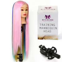 Doll Hairstyles 26 Hairdressing Mannequin Head High Temperature Fiber Colorful Styling Training Head For Salon Styling