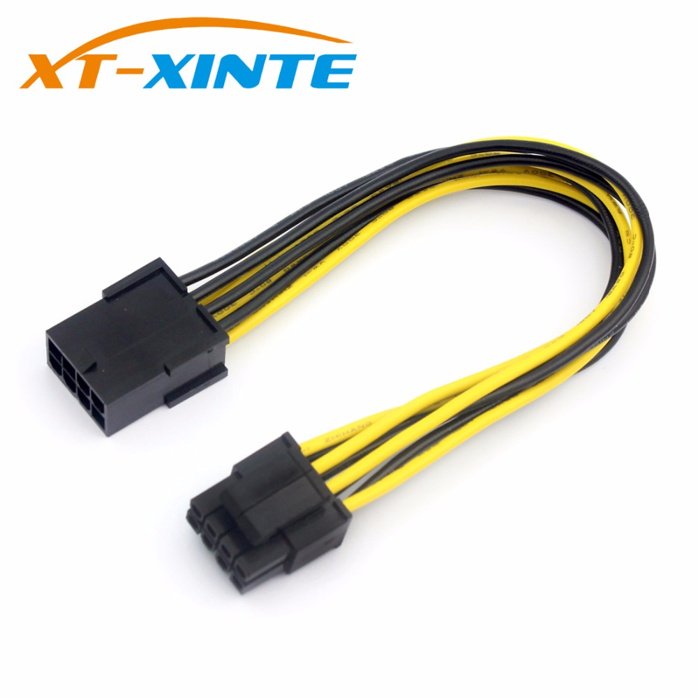 Graphics 8P To CPU 8Pin (4pin +4pin ) Power Supply Cable Adapter Famale To Male Power Convertor 8Pin Miner Cable 12cm For BTC
