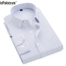 BFSBOYS 2017 Classic Striped Men Dress Shirts Long Sleeve Business Formal Shirts Male Casual Shirts Camisa Masculina Hombre G82