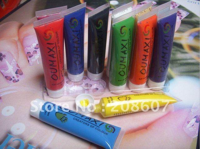 Nail Art Painting Freeshipping OUMAXI Brand Painting 22ml 12pcs/set Professional  Nail Art Painting Suir For DIY Design