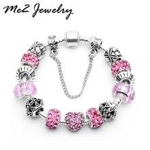 Silver Love Crystal Bracelets