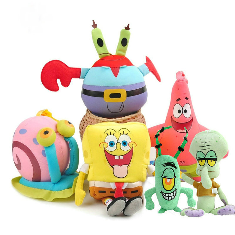 SpongeBob Plush Toys Patrick Star Doll For Children Holiday Gift Soft Anime Stuffed Squidward Tentacles Cartoon Doll