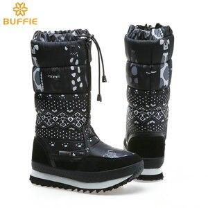 Image 5 - Natürliche wolle Winter stiefel mixed pelz Frauen Schnee Stiefel Warme schuhe Plus größe bis zu 41 schnelle zip setzen auf weibliche beliebte stil freies schiff