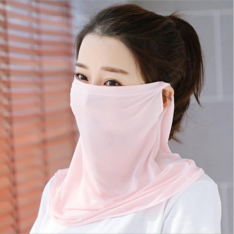 Ice Silk Mask Shawl Summer UV-proof Neck Mask Cycling Breathable Sunscreen Cool Mask Sunshade Cover Face Shawl Anti-dust Mask