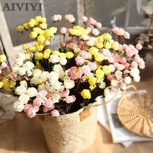 1 sztuk/worek 15 głowy mała róża Bubble sztuczny kwiat na świąteczne zaopatrzenie firm sztuczne dekoracje sztuczny suszony kwiaty