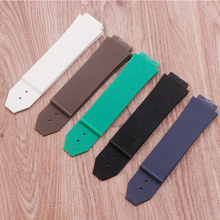 цены Watch accessories for HUBLOT Hengbao silicone  rubber   waterproof belt men and women watch strap 25x19mm