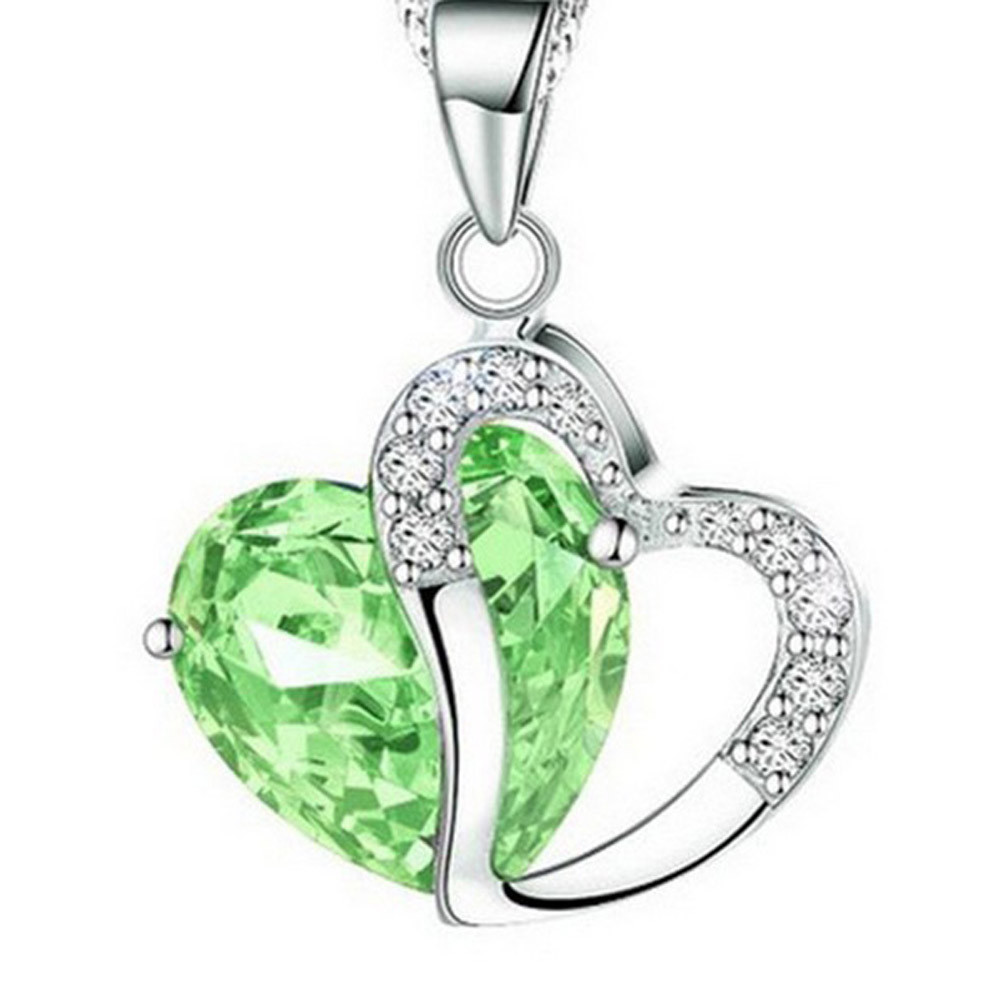 ab3ab737a1cc8 Heart-shaped zircon crystal necklace