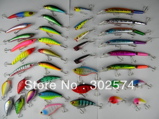 Mixed Fishing lures 10 Set of fishing tackle Minnow / VIB / Jointed / crank bait MIX B
