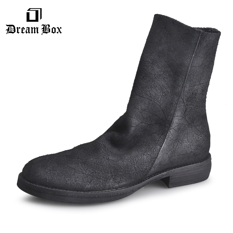 dreambox Do the old autumn winter new trend of British style leather soled boots in retro fashion boots the little old lady in saint tropez