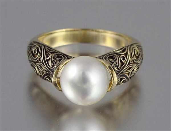 แหวนมุกเงิน 925 เครื่องประดับเครื่องแต่งกายเครื่องประดับ King Of The Ring ให้ของขวัญผู้หญิงสแตนเลส Ringen แหวนมูนสโตน