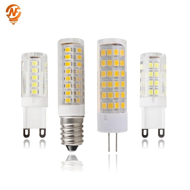 Mini E14 LED Lamp G4 G9 AC 220V 3W 4W 5W 7W LED Corn Bulb SMD2835 360 Beam Angle Replace Halogen Chandelier Lights
