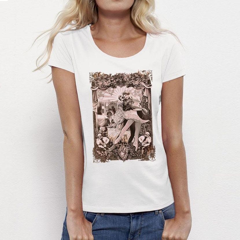 789430172 USAprint Summer T-shirt Women's Top Gothic Harajuku Punk Design T Shirt for  Woman Clothing Tees Girl Ladies Camisa Cotton Custom