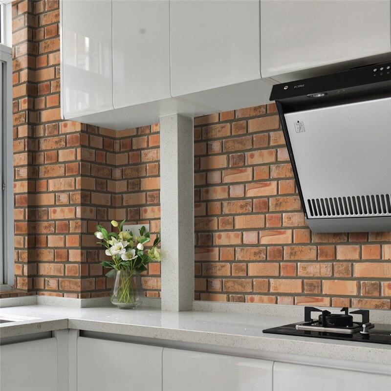 0.2x5 м/roll ПВХ имитация Плитки Наклейки для стен и пола Стикеры Кухня линия талии клей Ванная комната туалет водонепроницаемый обои