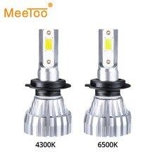 Mini Fanless LED H1 HB3 HB4 Car Fog Lamp 12V 6500K COB Chip H3 Led Light Bulbs For Cars 5000Lm 50W LED H11 H9 H8 Auto Fog Lights