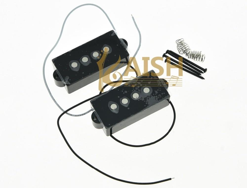 Black P Bass Pickup 8.0K Bass Pickups Set for 4 String Precision Bass Guitar